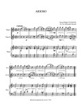 Arioso in D minor, arr. for 2 Flutes & Piano
