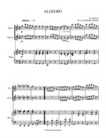Allegro in C major, arr. for 2 Flutes & Piano